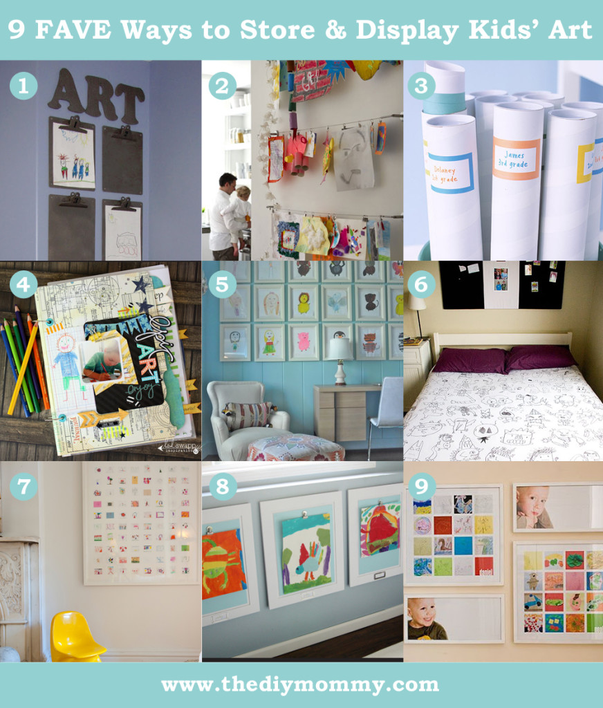 9 Favourite Ways to Store and Display Kids' Artwork - The DIY Mommy
