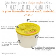 Use a Recycled Ice Cream Pail as a Craft Material