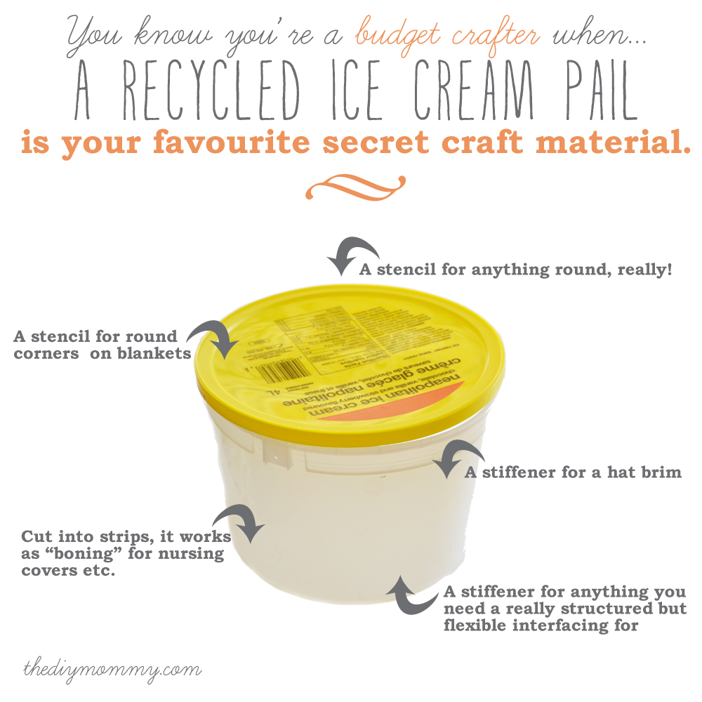 A Recyled Ice Cream Pail as a Budget Craft Material by The DIY Mommy