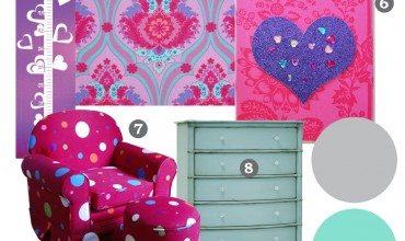 Mood Board: Bright Jewel Toned Kid's Bedroom - Our DIY House by The DIY Mommy.