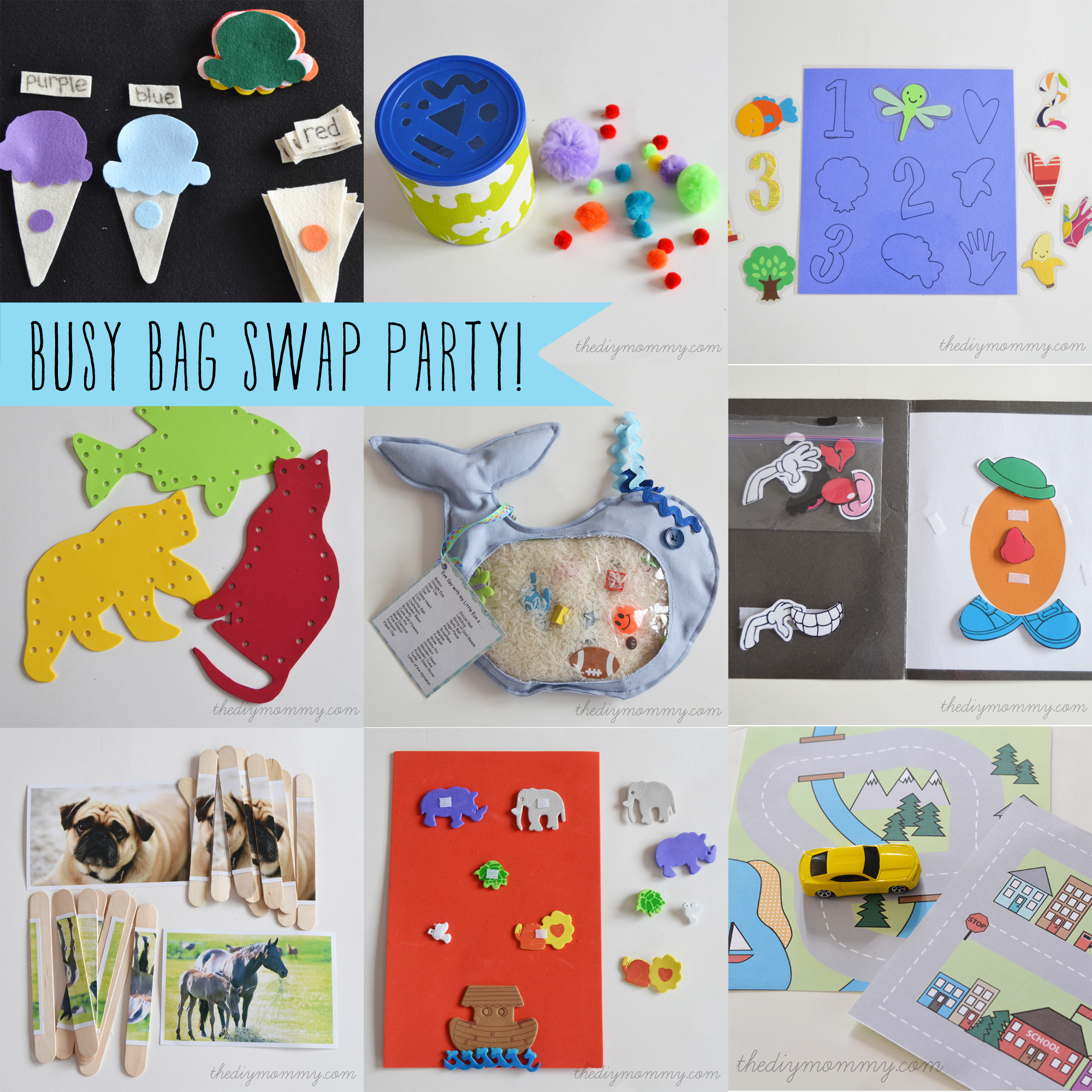 Toddler Busy Bag Swap Party - The DIY Mommy