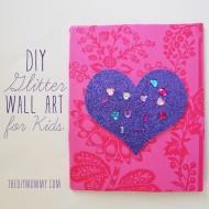 Make Glittery Wall Art with Paper & Fabric