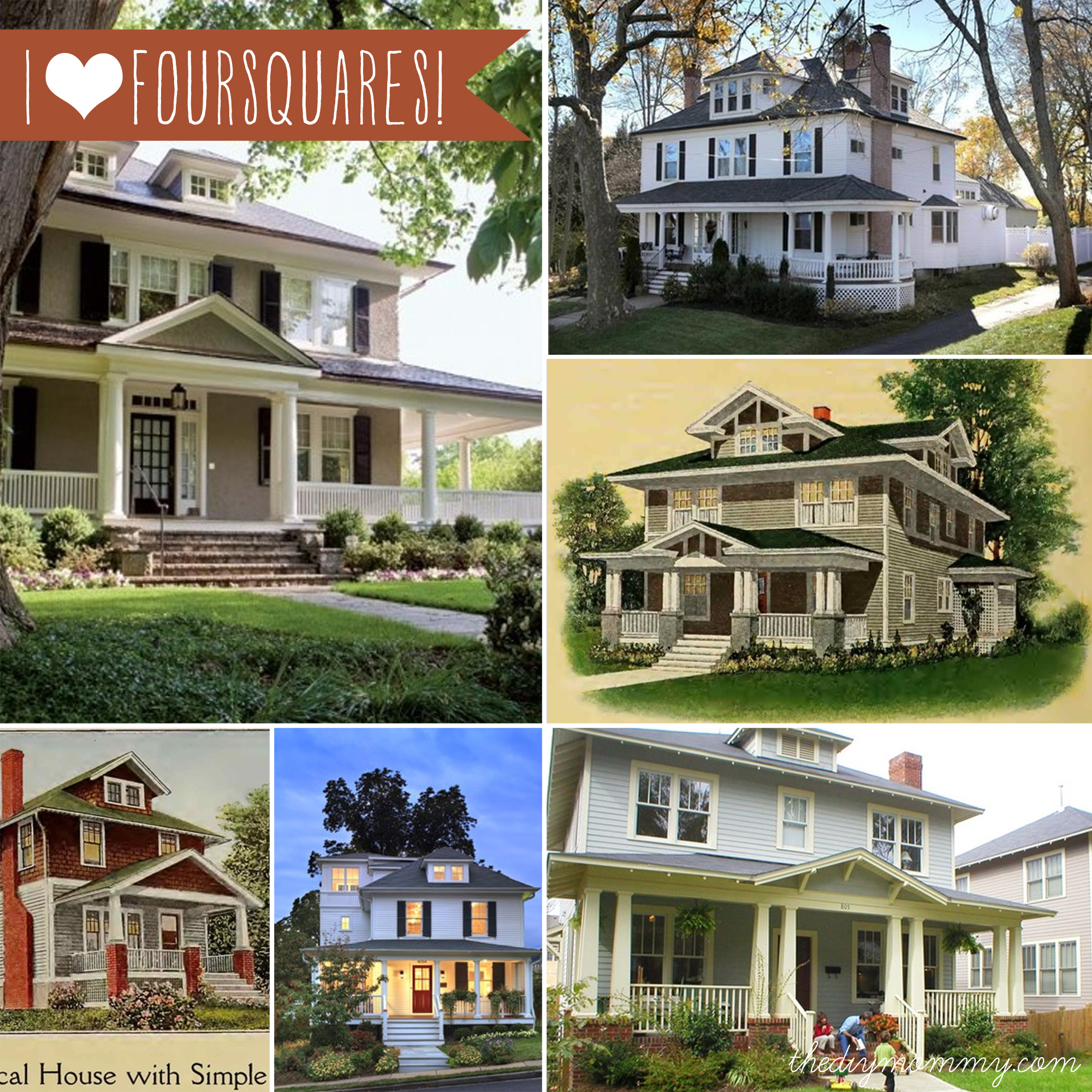 Constructing a new house with vintage charm our diy for Square home plans