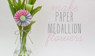 Make a Spring Flower Arrangement with Tulips and a Paper Medallion by The DIY Mommy