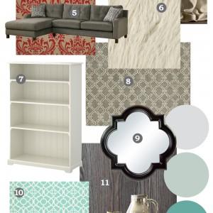 Mood Board: Rustic Glam Farmhouse Living Room – Our DIY House