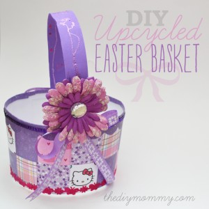 DIY Upcycled Easter Basket from an Ice Cream Pail by The DIY Mommy.