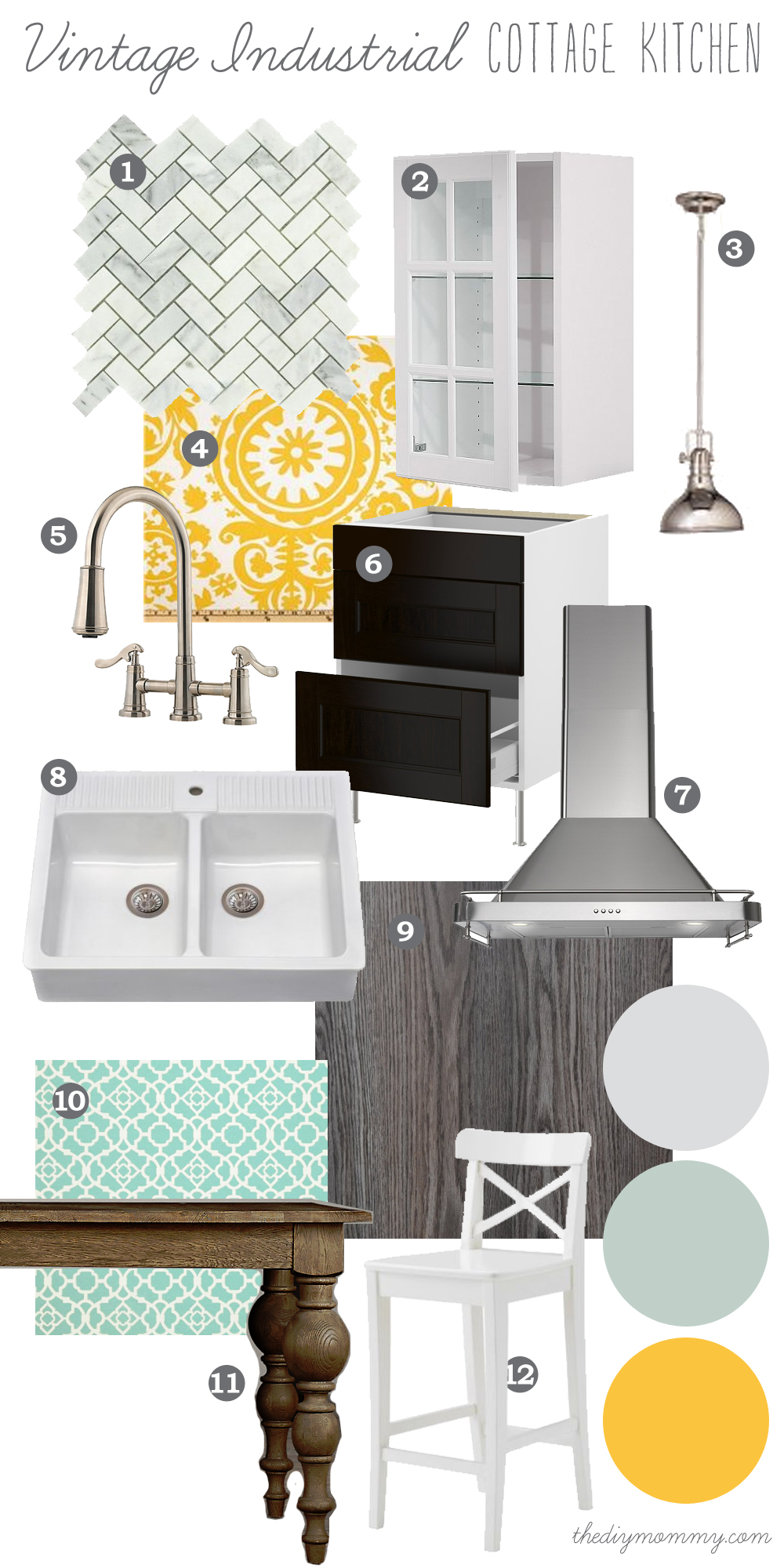 Mood Board Vintage Industrial Cottage Kitchen Our Diy