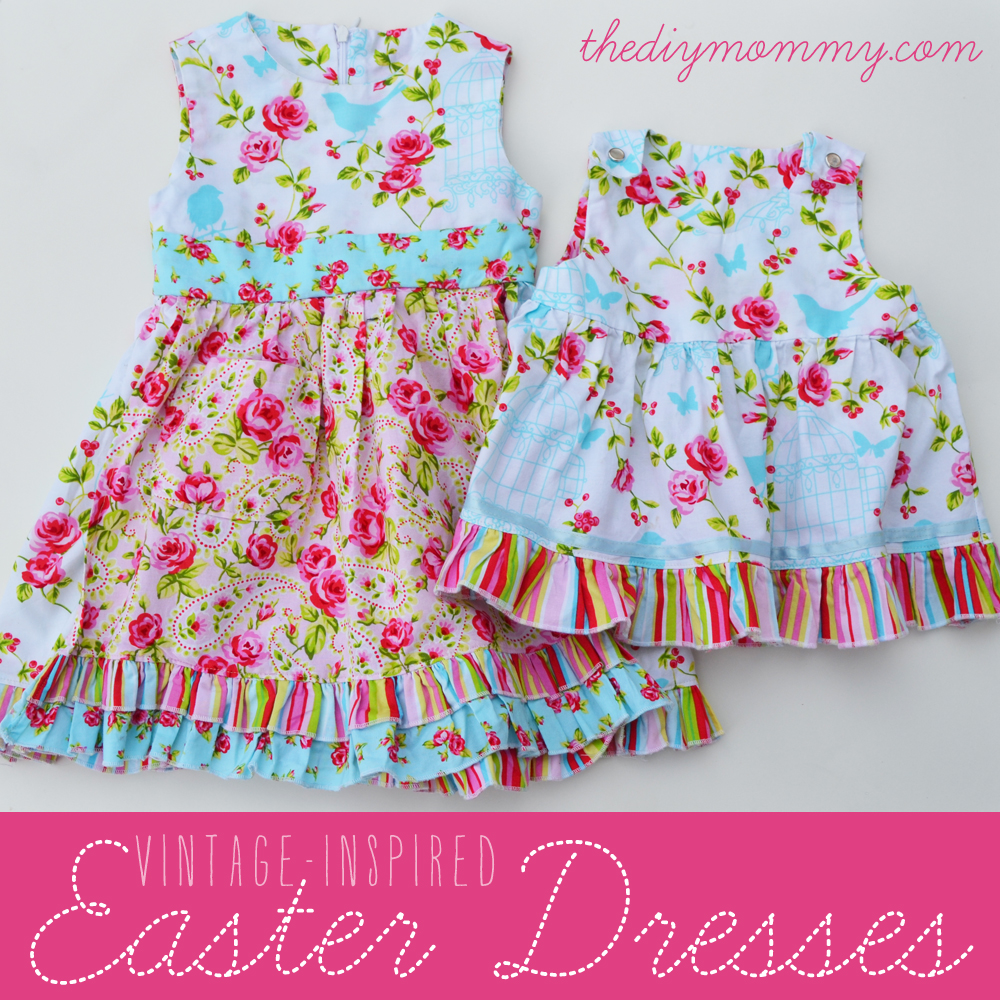 DIY Vintage Inspired Easter Dresses by The DIY Mommy