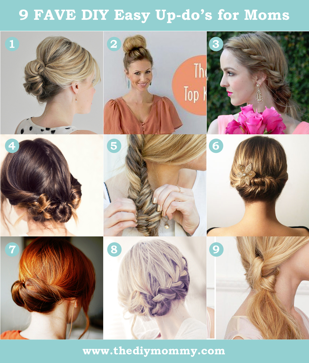 Delightful 9 Favourite DIY Easy Updos For Mom Hair