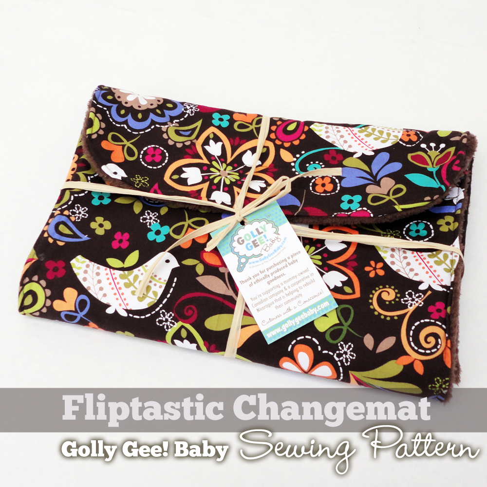 Fliptastic Changemat Sewing Pattern by Golly Gee Baby