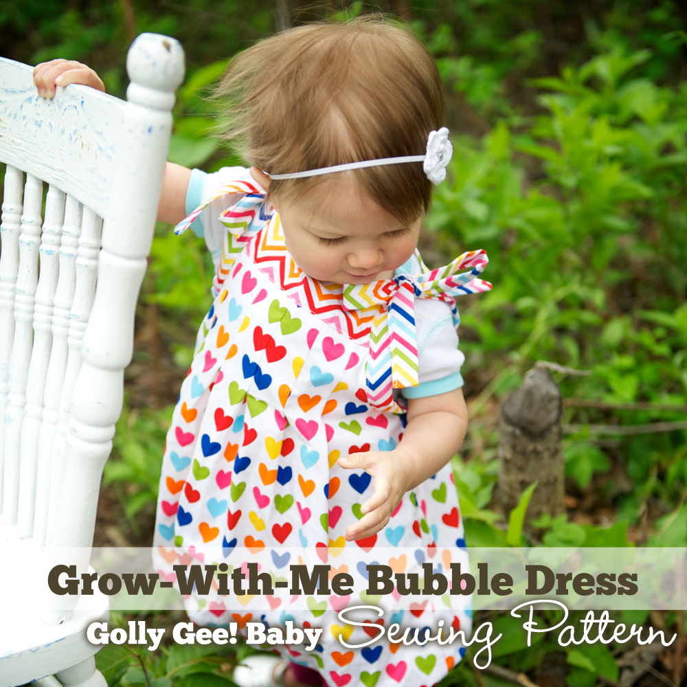 Grow-With-Me Bubble Dress Sewing Pattern by Golly Gee Baby