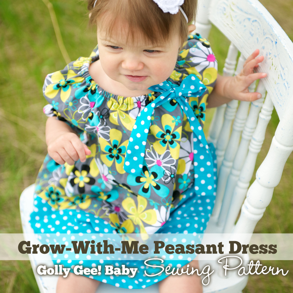 Grow-With-Me Peasant Dress Sewing Pattern by Golly Gee Baby