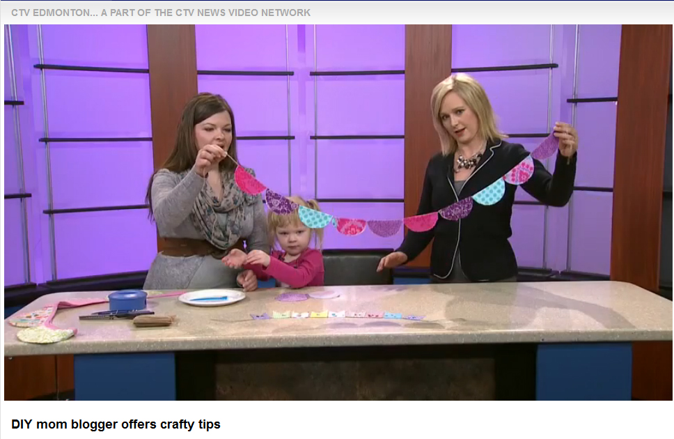 The DIY Mommy on CTV Morning Live News Edmonton