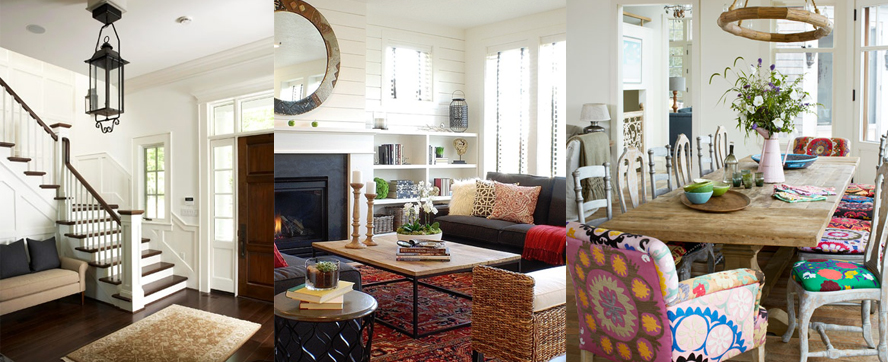 Our DIY House Paint Inspirations - Light walls and colourful accents