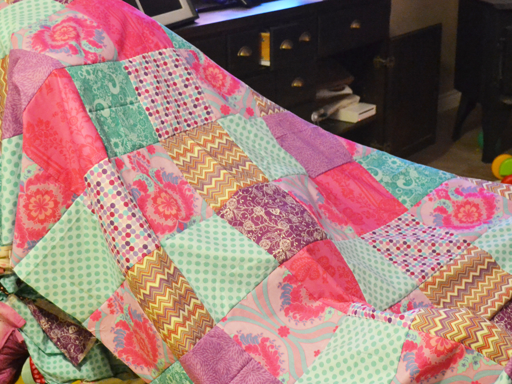 Sew a Patchwork Duvet Cover by The DIY Mommy