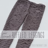 Sew Simple Leggings with Ruffle Fabric