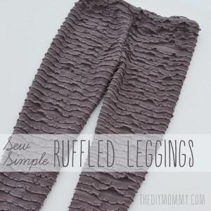 Sew Simple Leggings with Ruffle Fabric