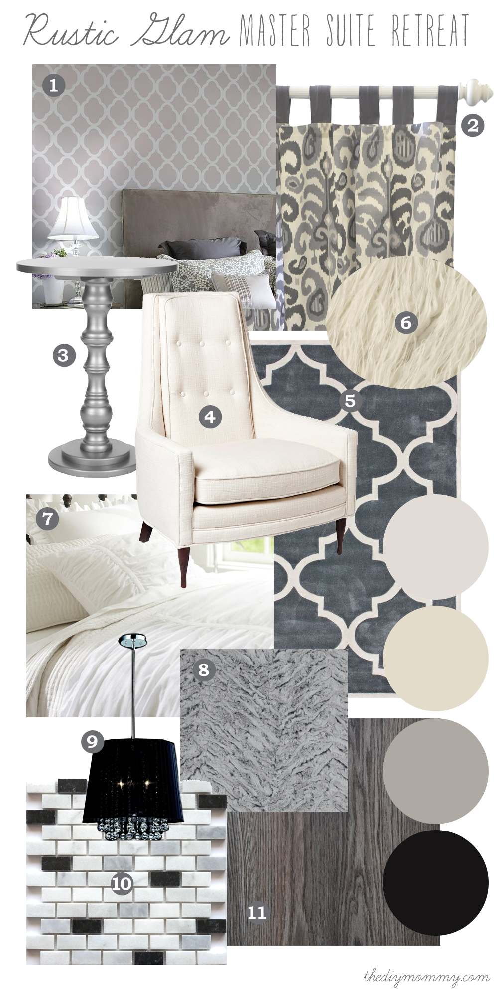 Mood Board Rustic Glam Master Suite Retreat Our Diy House