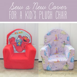 Sew a New Cover for a Plush Kid's Chair by The DIY Mommy