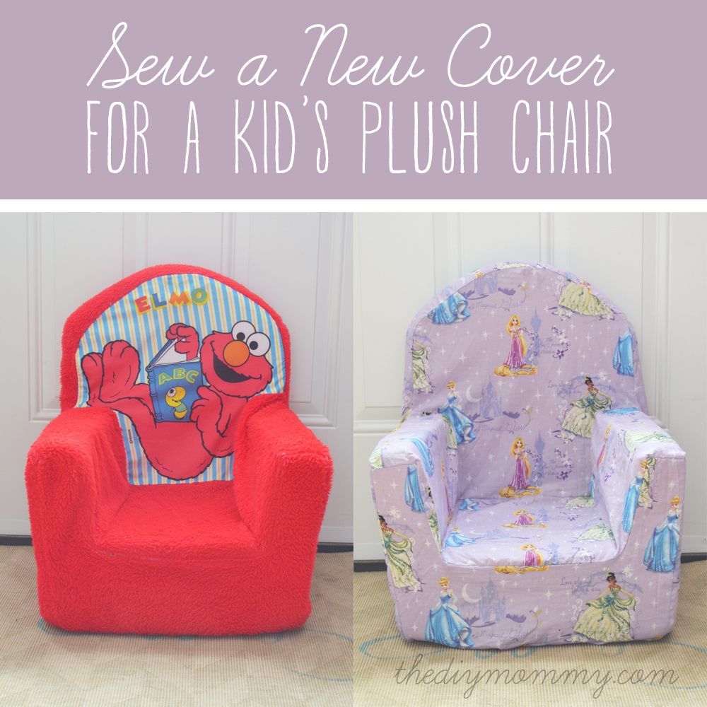 Sew A New Cover For A Plush Kidu0027s Chair By The DIY Mommy
