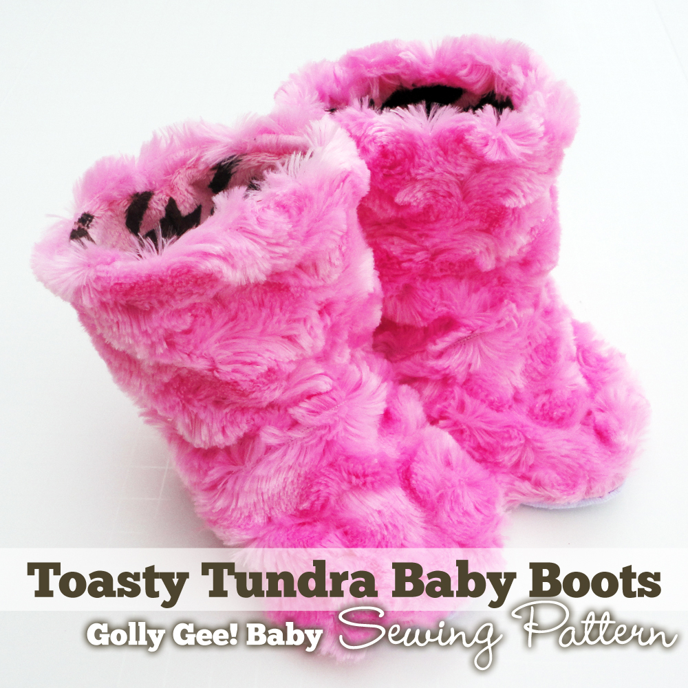 Toasty Tundra Baby Boots Sewing Pattern by Golly Gee Baby