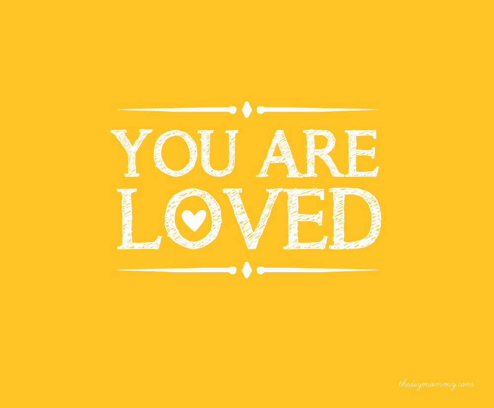 """You Are Loved"" Free Nursery Printable by The DIY Mommy"