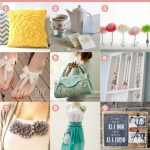 9 Favourite DIY Mother's Day Gifts - Rosette Pillow, Tea Bag Wrapper, Paper Flowers, Bow Sandals, Handbag, Jewelry Holder, Rosette Necklace, Anthropologie Inspired Apron, Free Printable and Gift