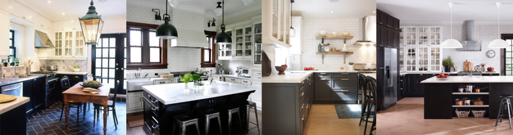 Black and White Two Tone Kitchen Inpiration Photos