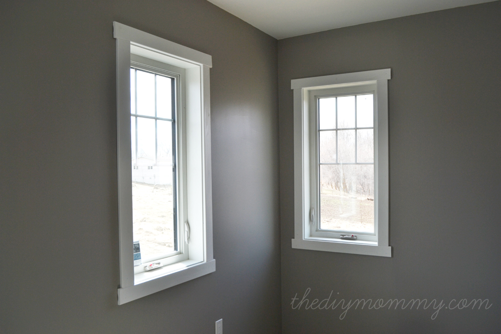 DIY Simple Craftsman Shaker Window & Door Trim by The DIY Mommy