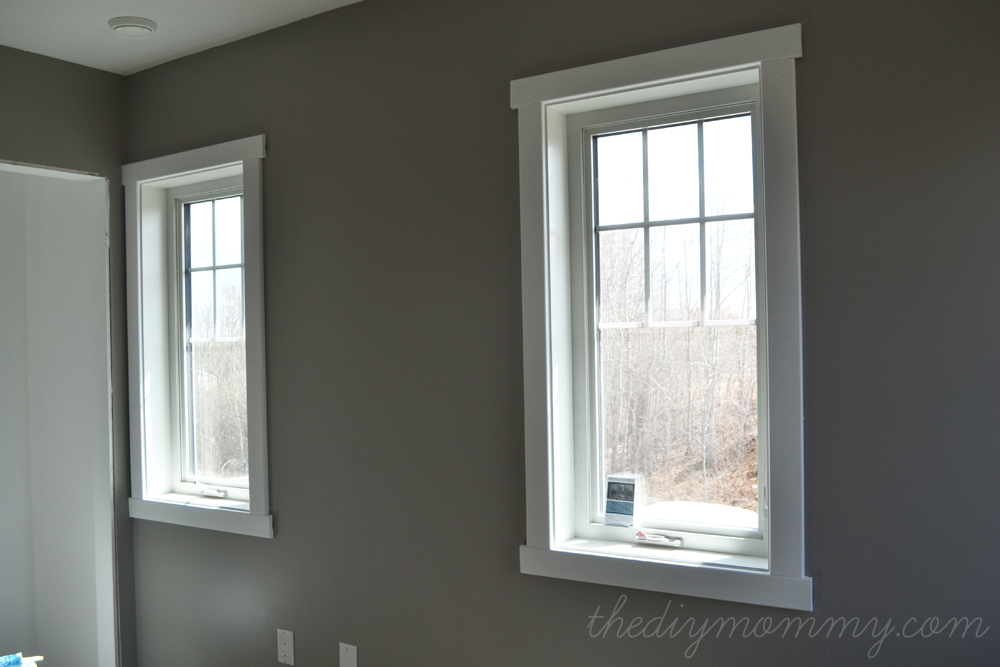 Craftsman trim by the diy mommy for Contemporary exterior window trim