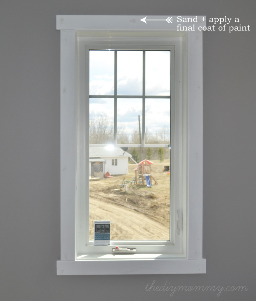 The gallery for craftsman window trim interior for Window definition