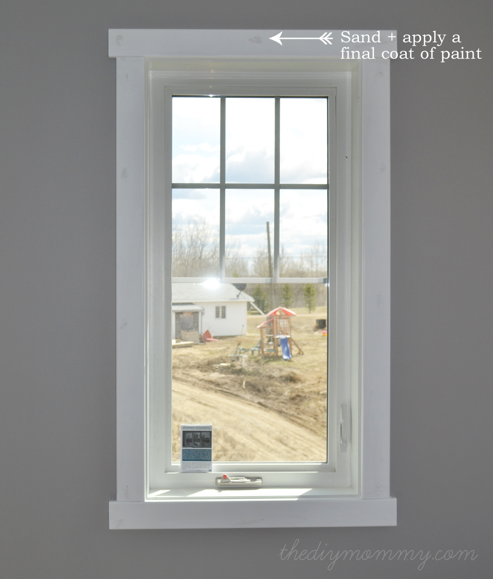 How to design and install simple crafstman shaker window and door diy simple craftsman shaker window door trim by the diy mommy eventelaan Choice Image