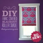 DIY No-Sew Fabric Covered Blackout Roller Blinds by The DIY Mommy. Just use spray adhesive, fabric and ribbon for an exciting update to your roller blinds!