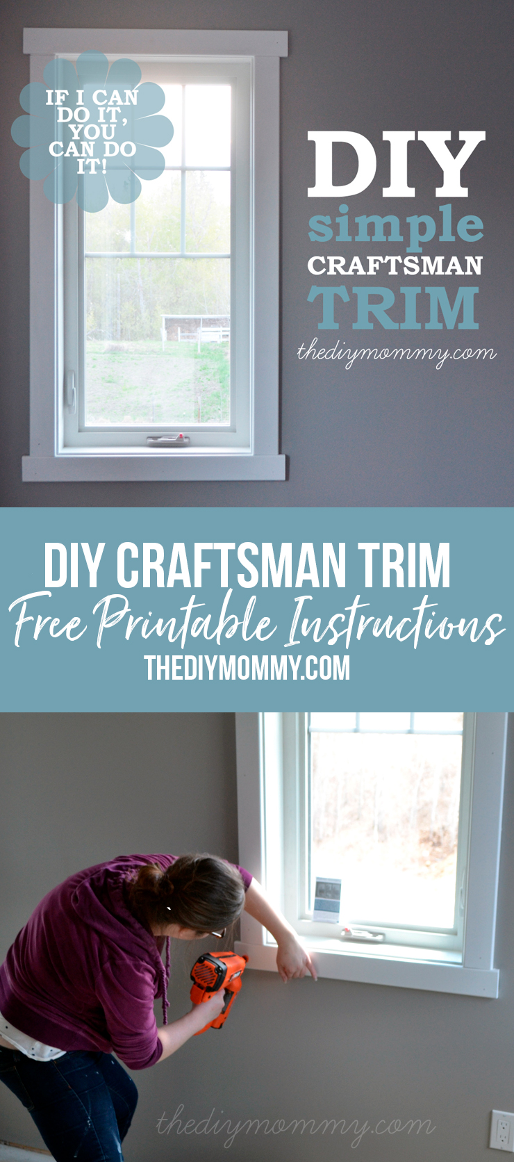 DIY Simple Craftsman Shaker Window & Door Trim