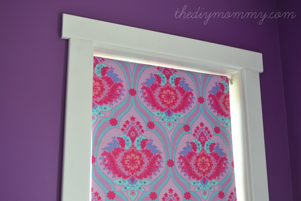 Make a No-Sew Fabric Covered Roller Shade