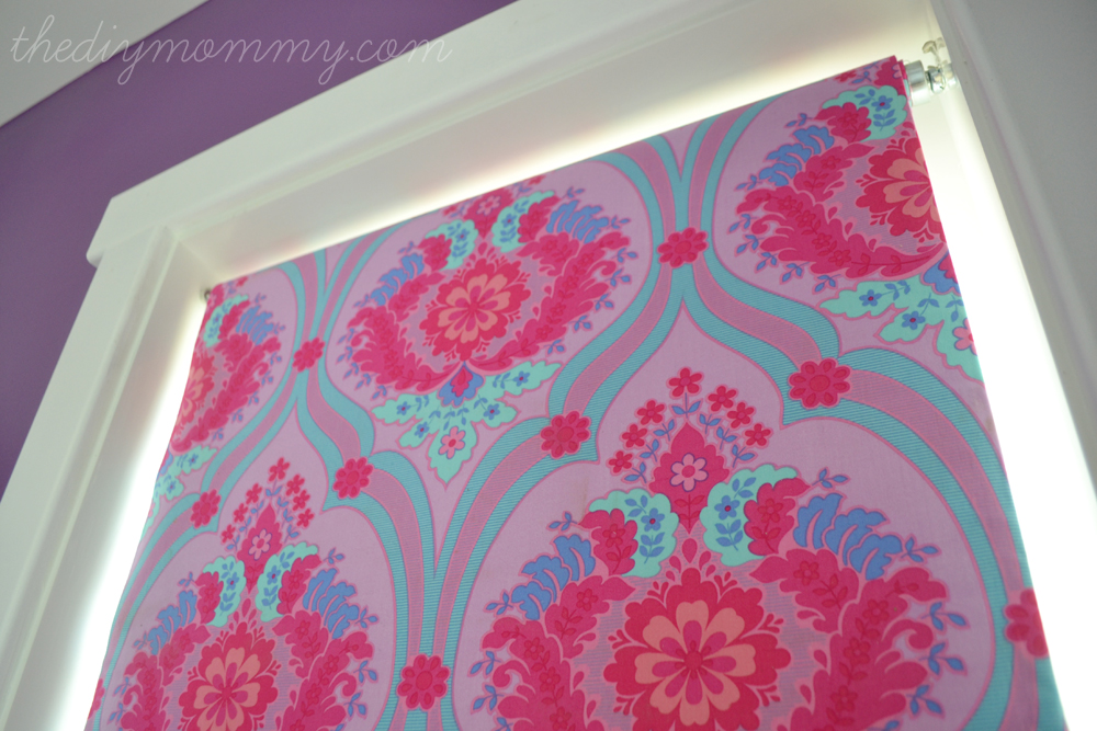 Fabric Roller Shades : Make a no sew fabric covered roller shade the diy mommy