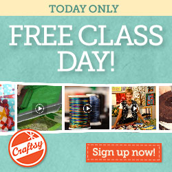 FREE CLASS DAY at Craftsy!
