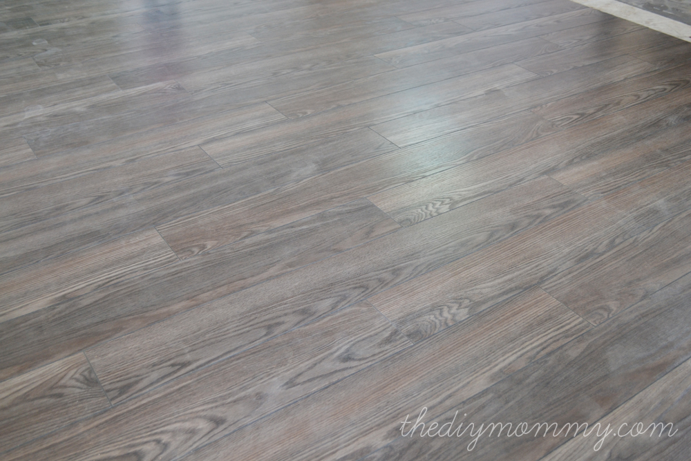 Installing Laminate Flooring By The DIY Mommy Allen Roth Provence Oak From