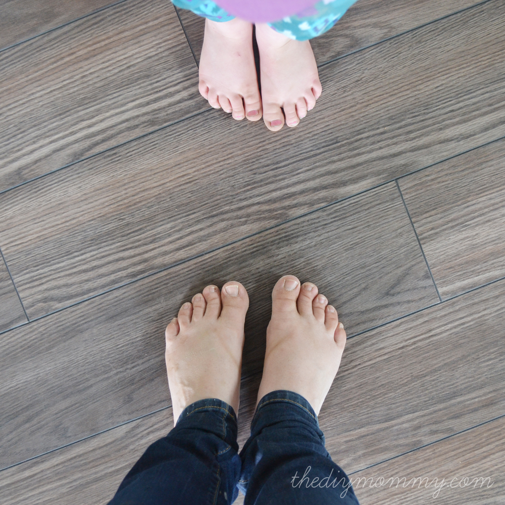 Installing Laminate Flooring by The DIY Mommy. (Allen + Roth Provence ...