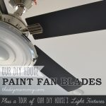 How to Paint Fan Blades Like a Pro + A Tour of Our DIY House's Light Fixturesby The DIY Mommy