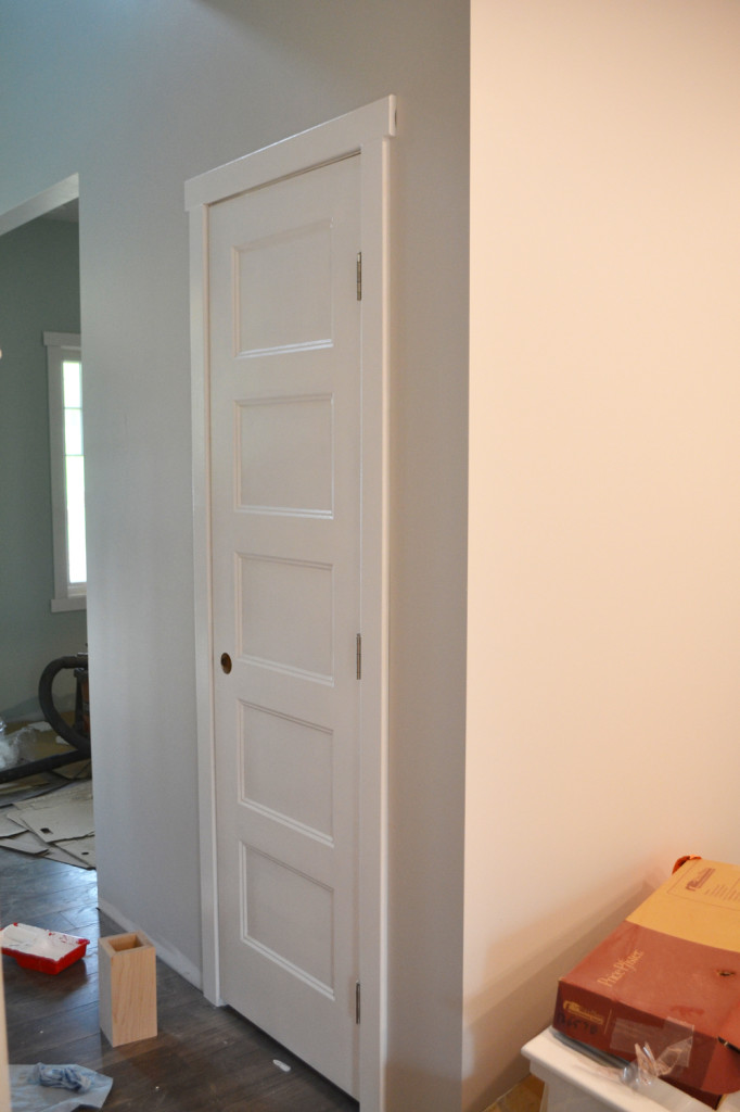 painting doors with a streak free finish where we found our. Black Bedroom Furniture Sets. Home Design Ideas