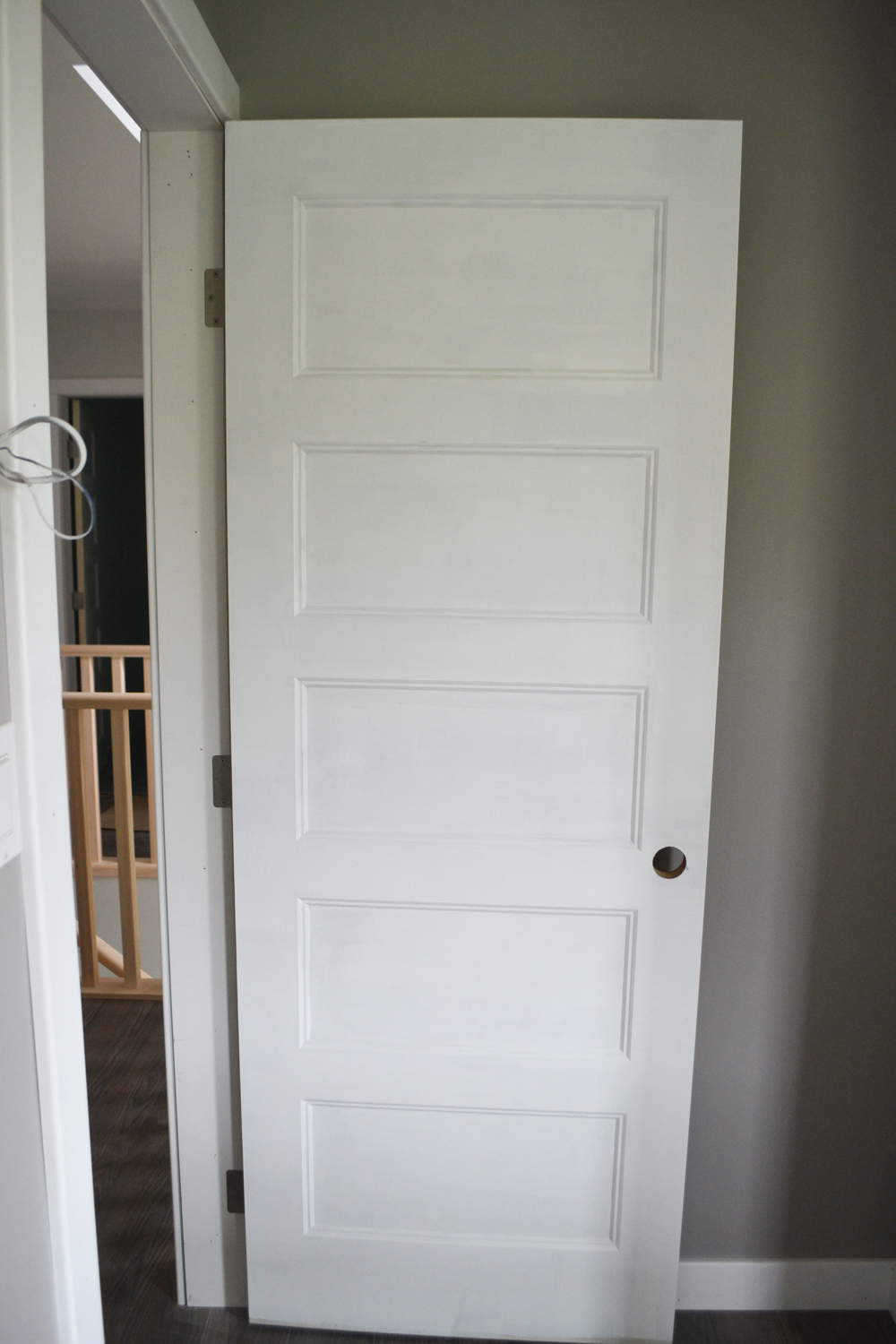 Painting doors with a streak free finish where we found for Interior panel doors