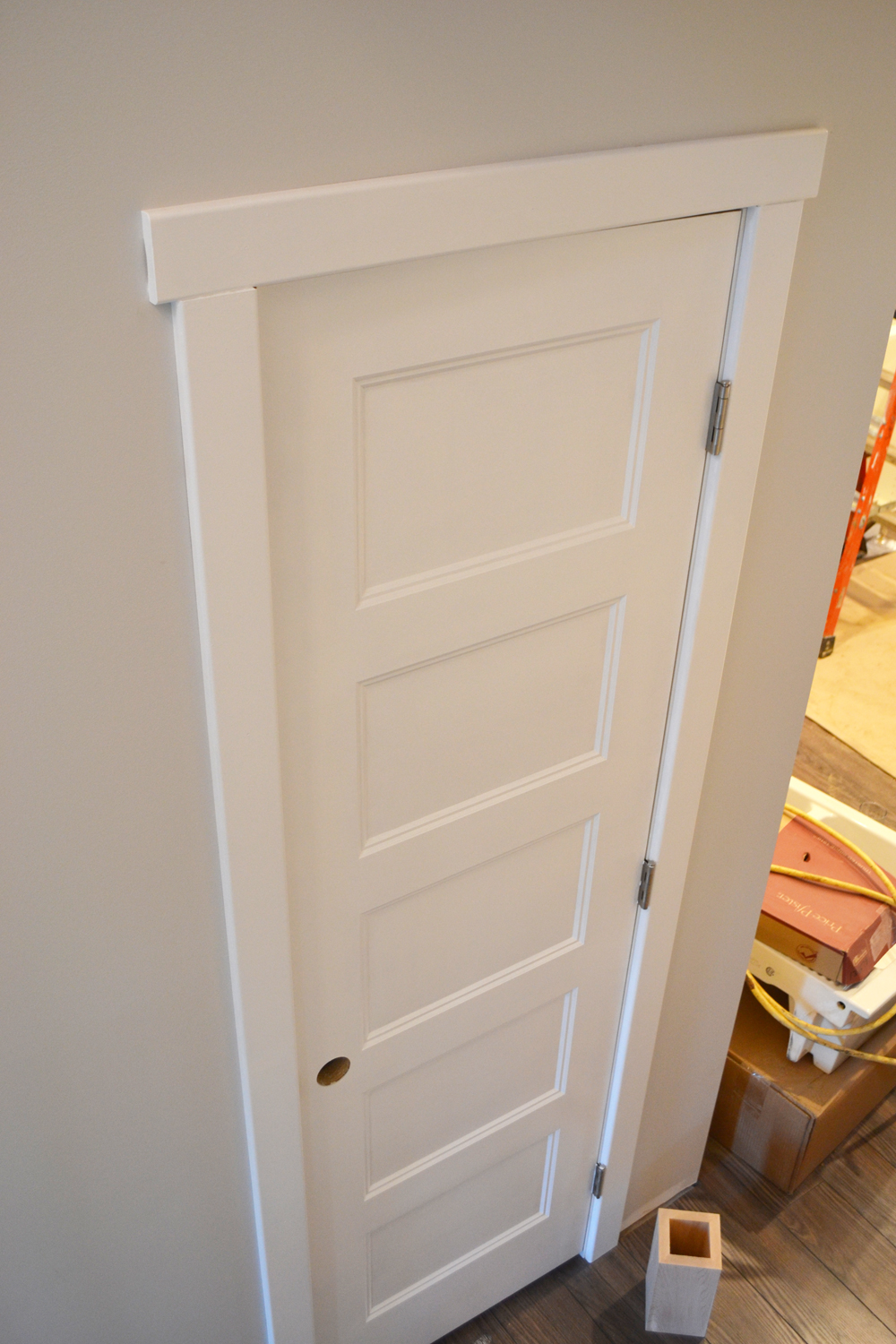 Painting doors with a streak free finish where we found for Cost to paint interior doors and trim
