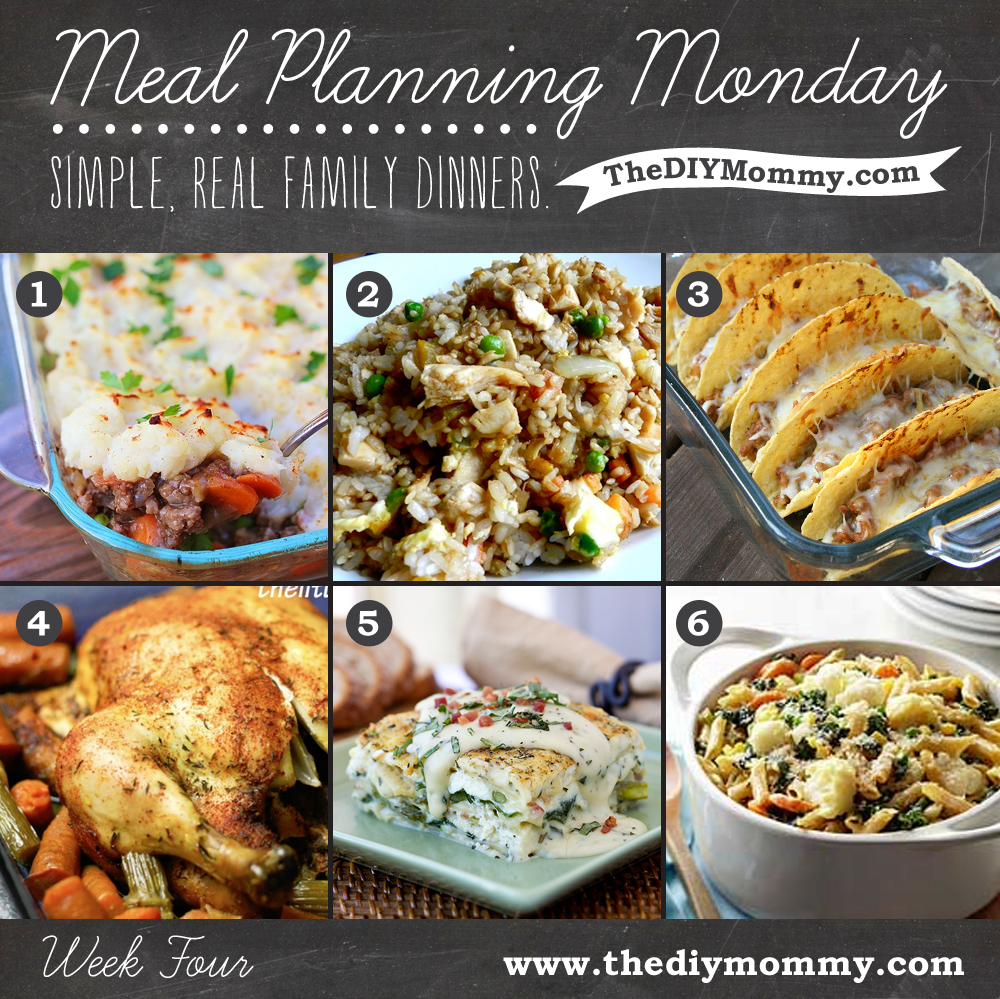 Simple, Real Family Dinners: Shepherd's Pie, Fried Rice, Oven Tacos, Slow Cooker Chicken, Six-Cheese Vegetable Lasagna, Vegetable Pasta Bake