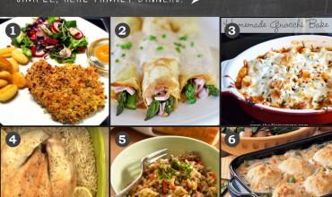 Meal Planning Monday Week 6: Crunchy Baked Pork Chops, Ham & Asparagus Crepes, Gnocchi Bake, Winner Winner Chicken Dinner, Ground Beek Risotto, Chicken 'n' Biscuits