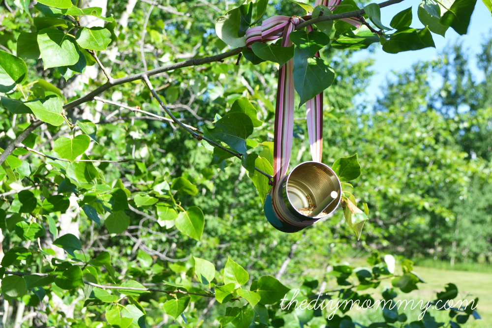 DIY Tin Can Bird Feeder from The DIY Mommy