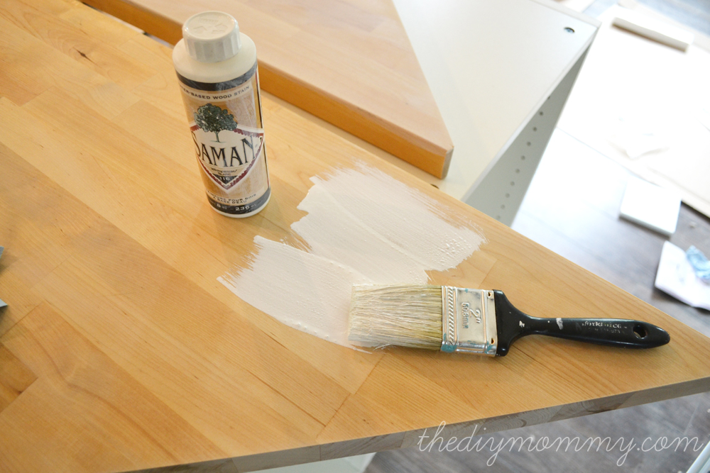 How To White Wash Stain And Seal A Butcher Block Countertop