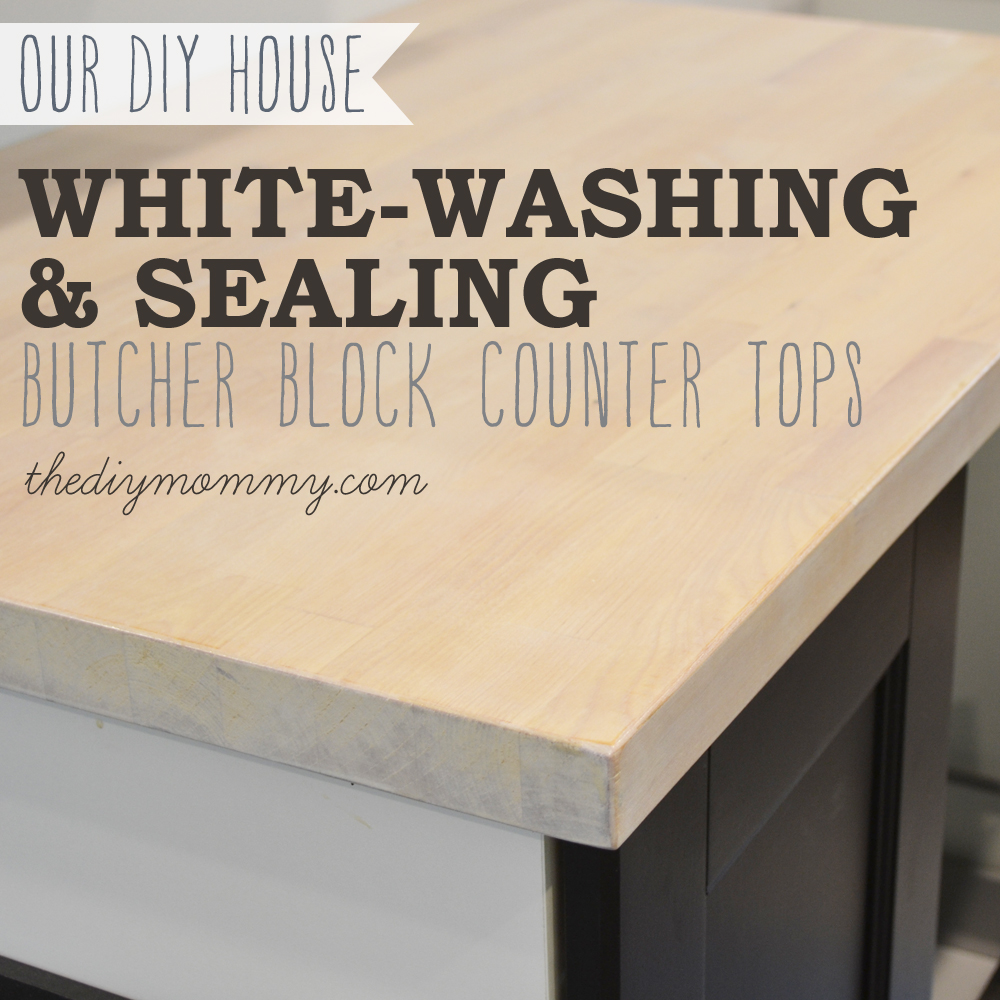 Whitewashing And Sealing A Butcher Block Countertop By