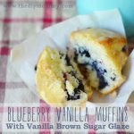 Blueberry Vanilla Muffins with Vanilla Brown Sugar Glaze - The DIY Mommy