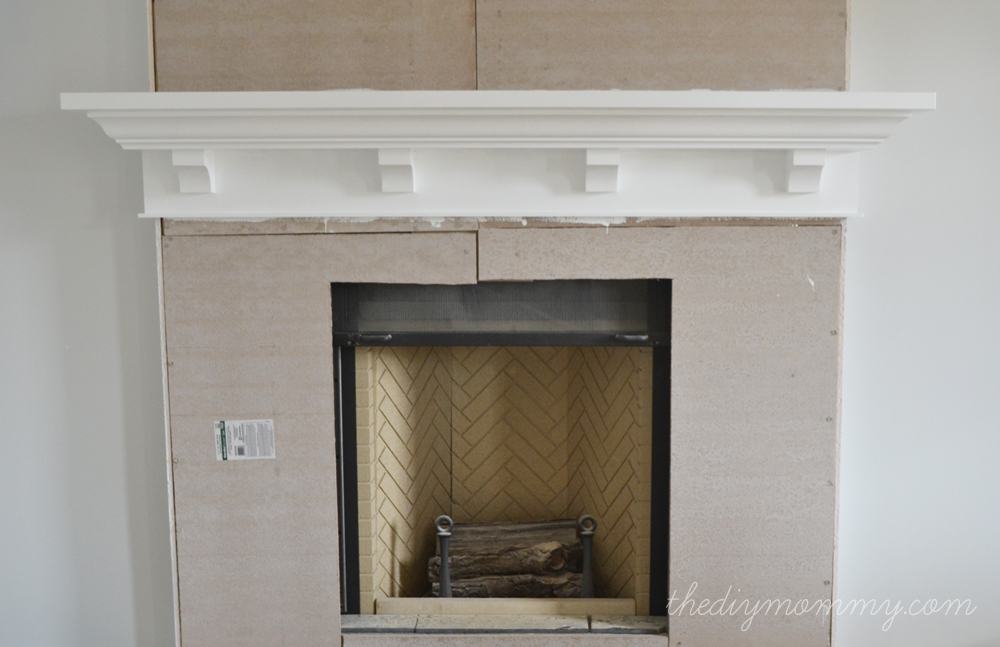 Diy Fireplace Mantle Home Pinterest